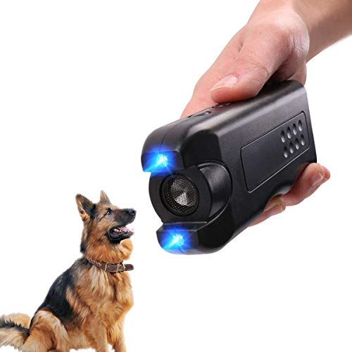 Handheld Dog Repellent, Ultrasonic Infrared Dog Deterrent, Bark Stopper + Good Behavior Dog Training (Barking Dog Device Deterrent Training)
