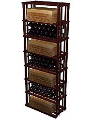 Rectangular Bin Case Wine Rack All Heart Redwood Classic Mahogany Stain