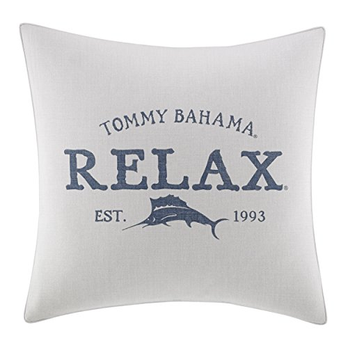 "41D8C8S1GTL - Tommy Bahama 221199 Raw Coast Relax 20"" Dec Pillow,Natural,20x20"