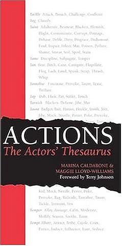 Actions: The Actors' Thesaurus (Action & Adventure DVDs & Videos)