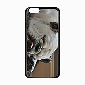 iPhone 6 Black Hardshell Case 4.7inch bulldog muzzle dog white Desin Images Protector Back Cover