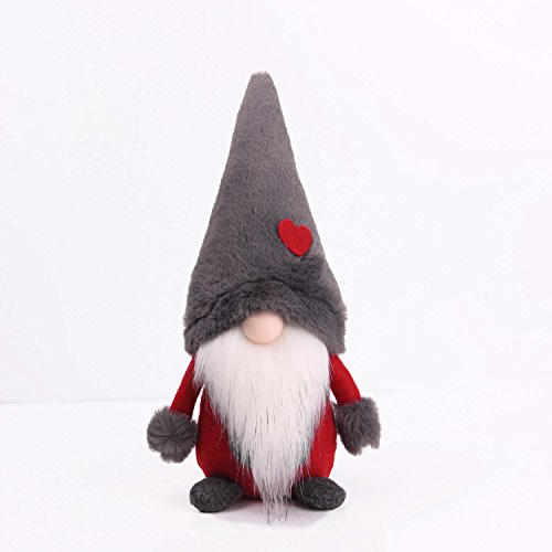 Nordic Santa Ornament (Amazlab Swedish Santa Gnome Plush, Handmade Scandinavian Tomte Nordic Nisse Sockerbit Elf Dwarf Home Household Ornaments, Christmas Santa Decoration)