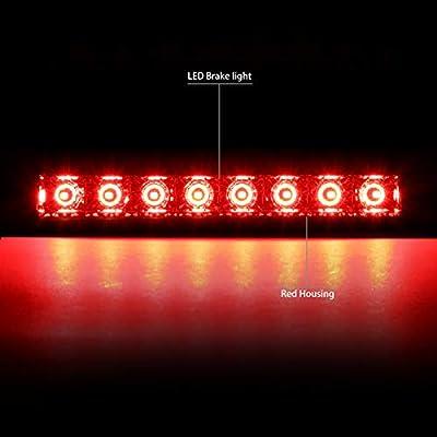 DNA MOTORING 3BL-PAT07-LED-RD (Red) Rear Center Full LED 3rd Third Brake Light Lamp: Automotive