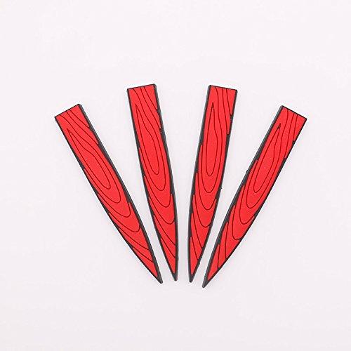 Meiyiu Car Protection Bullet Design PVC Anti-Collision Rubber Strip Car Door Bumper Sticker Anti-Scratch Car Protector red