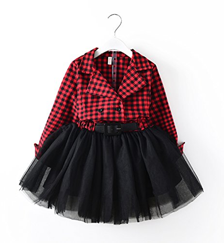 Red And Black Plaid Dress - 4