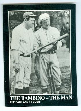 Babe Ruth and Ty Cobb baseball card (New York Yankees Detroit Tigers) 1992 BRC -