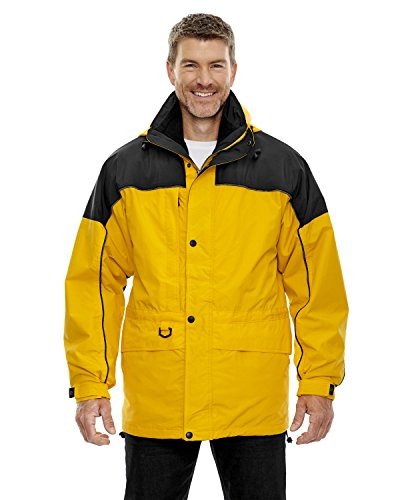 North End Men's 3-In-1 Two-Tone Zip-Off Hood Parka, Sun Ray 720, (North Park Zip)