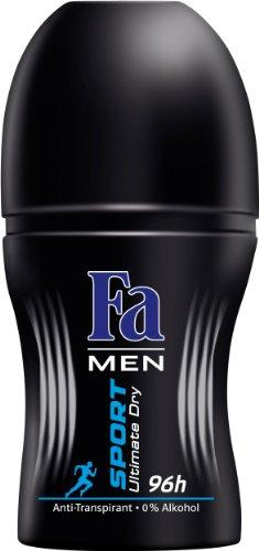 Fa Men Deo Roll-on Sport Ultimate Dry Power Fresh 96h, 6er Pack (6 x 50 ml)