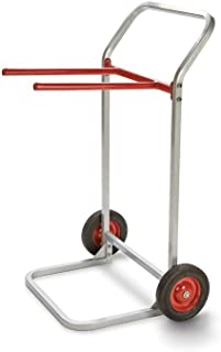 """product image for Folding Chair Dolly Gray/Red Paint Dimensions: 27.75""""W X 22.5""""D X 43""""H Weight: 28 Lbs"""