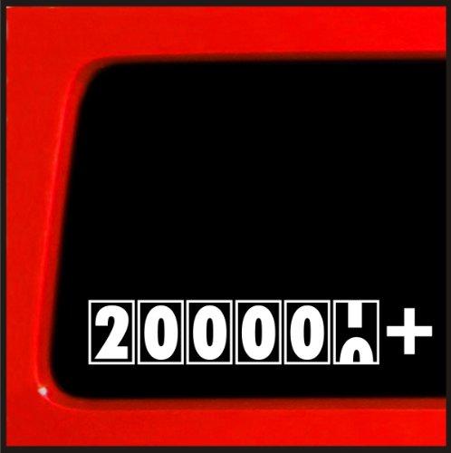 200,000 + Miles - JDM Sticker Decal import truck diesel 4x4 funny car vinyl 200k