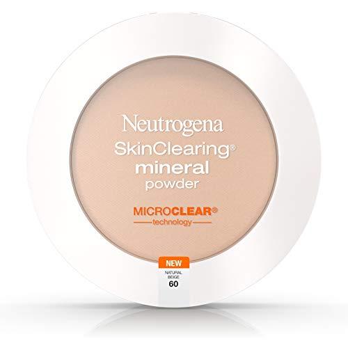Neutrogena Skinclearing Mineral Powder, Natural Beige 60, .38 Oz. Pack of 2
