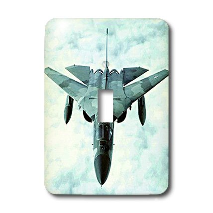 (lsp_322_1 Jet - F-111 Bomber F111 - Light Switch Covers - single toggle switch)