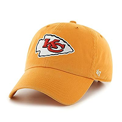Kansas City Chiefs 47 Brand Clean Up Adjustable Hat, Gold One Size from '47