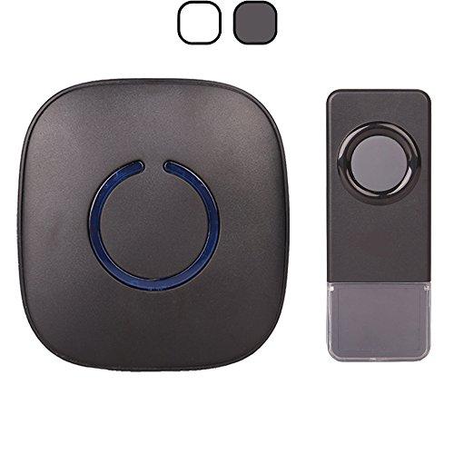 SadoTech Model C Waterproof Wireless Doorbell Chime Operating over 500-feet Range with Over 50 Chimes, No Batteries Required for Plugin Receiver, IP68 Waterproof Button, Scratch Resistant Matte Black (Spore Doorbells)