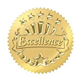 Trend Enterprises Excellence (Gold) Award Seals Stickers (T-74003), 8 Sheets