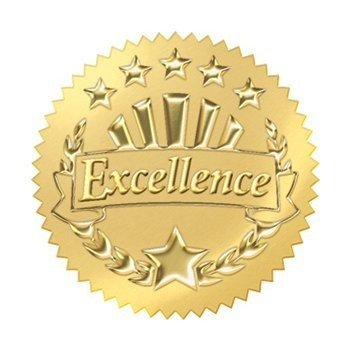 Trend Enterprises Excellence (Gold) Award Seals Stickers (T-74003), 8 Sheets -