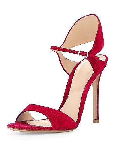 ShangYi Womens Shoes Leatherette Stiletto Heel Open Toe Sandals Office & Career/Party & Evening/Dress More Colors Available Green