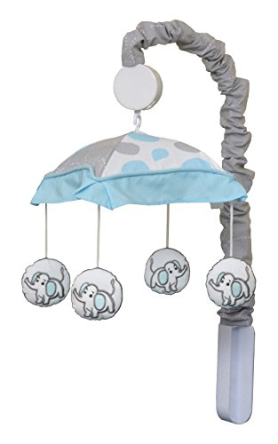 GEENNY Musical Mobile, Blizzard Blue Grey Elephant by GEENNY