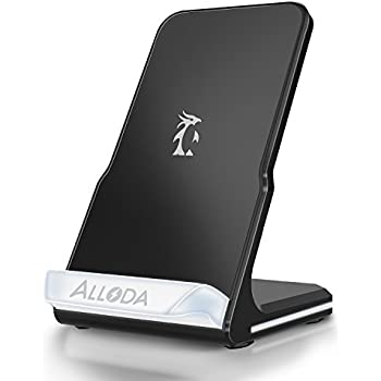 iphone x wireless charger alloda breathing. Black Bedroom Furniture Sets. Home Design Ideas