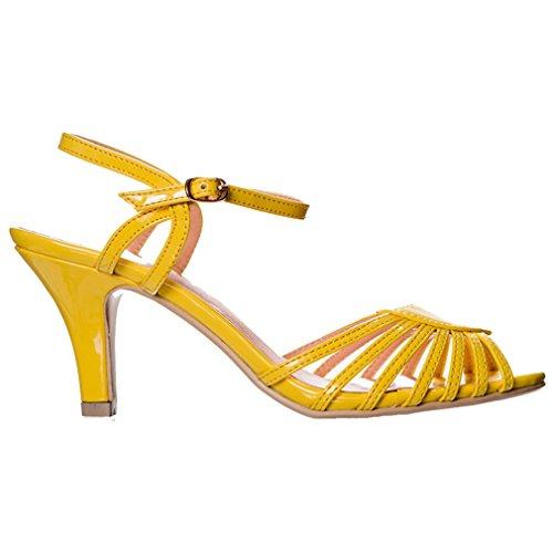 UK Yellow Yellow Sandals Yellow Fashion Banned One Women's Size PqHfqX