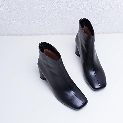 Antideslizante Invierno Q3017 Mujer KJJDE 35 De Botines Black WSXY Otoño Botas Dedo Redondo Moda wq0PR0gZ