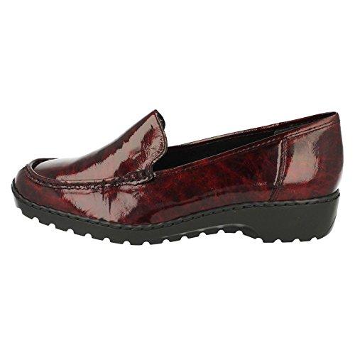 Rieker Wirrwarr Womens Schuhe Schlüpfen Wein Patent