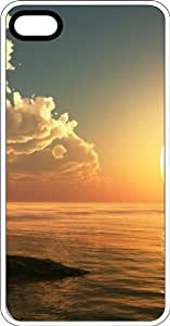 Beach Side At Twilight White Rubber Case for Apple iPhone 4 or iPhone 4s by Maris's Diary