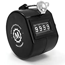 MARATHON CO200001 Handheld Tally Counter with Finger Ring - Black