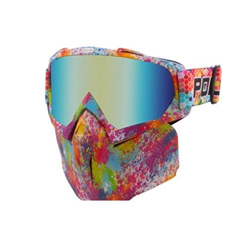 SE7VEN Lunettes De Ski Professionnel,Adulte Sports De Plein Air Masque Facial Masque De Snowboard Résistance Au Vent Motoneige Leçon De Ski C
