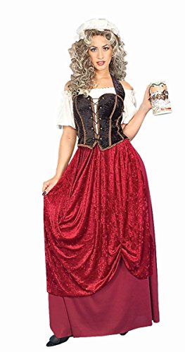 Tavern Maiden Womens Costume (Forum Novelties Women's Olde Time Tavern Wench Costume, Multi, Standard)