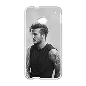 David Beckham_023 High Quality Specially Designed Skin cover Case For HTC One M7 White