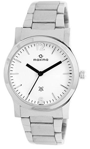 Maxima AttivoAnalog White Dial Women's Watch   28022CMLI