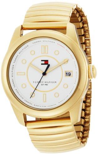 Tommy Hilfiger Women's 1781011 Fashion Quartz Gold Plated Expansion Bracelet Watch