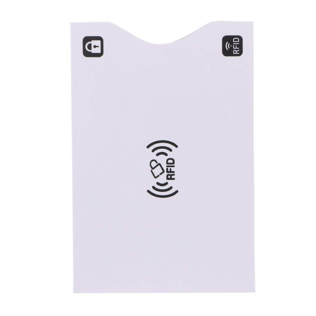 JERKKY 1Piece ID Porta Carte di Credito RFID Protector Shielded Sleeve Business Bank Cards Case Viola