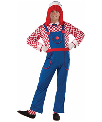 Classic Rag Doll Men Costume Blue