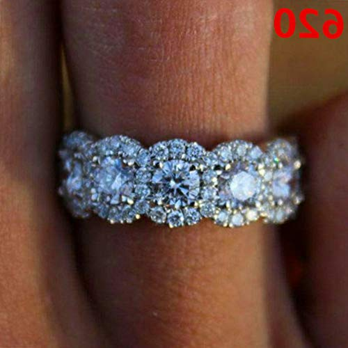 - Endicot Women Engagement Wedding Ring Crystal Rhinestone White Gold Plated Rings Jewelry | Model RNG - 5110 | 9