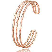 CHUANGYUN Simple Hollow Stack Adjustable Cuff Bangle Bracelet
