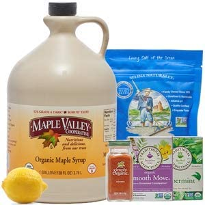 Maple Valley Organic Master Cleanse Lemonade Detox Kit 16 Day Kit Without Book