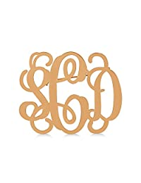 14k Gold Over Sterling Silver Initial Monogram Broach Pin