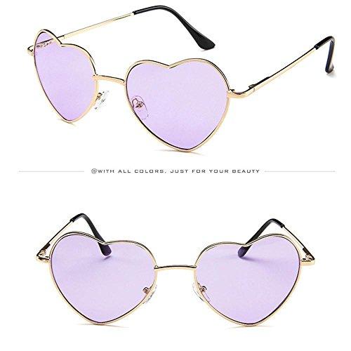 de Metal Gafas para con Mujer Corazón Marco Hombre de Sol D D y de hunpta Diseño vxqTcdHwzH
