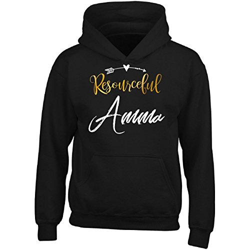My Family Tee Resourceful Amma Name Mothers Day Present Grandma - Adult Hoodie L Black