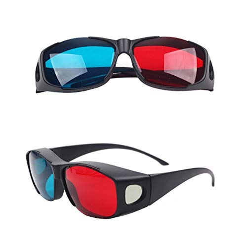 (Domccy Red-Blue 3D Glasses Cyan Anaglyph Simple Style 3D Glasses 3D Movie Game-Extra Upgrade Style Men's and women's jewelry, novelty jewelry, birthday gifts, wedding gifts, ladies)