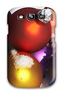Clintooble Case Cover Protector Specially Made For Galaxy S3 Christmas Ornaments On Snow