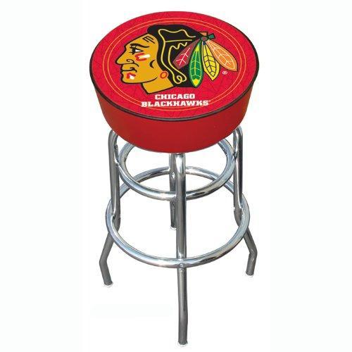 NHL Chicago Blackhawks Padded Swivel Bar Stool (Dart Blackhawks Chicago)
