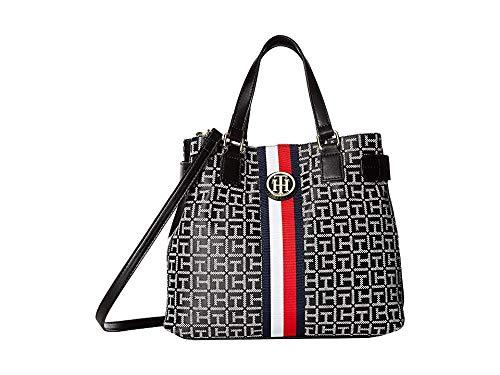 Tommy Hilfiger Women's Tami Convertible Shopper Black/White One Size