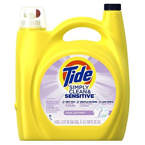 Tide Simply Clean & Sensitive Cool Cotton Laundry Detergent, 138 Fl Oz by Tide B01B5CE2AU