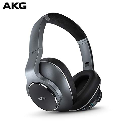 Samsung AKG N700NC Over-Ear Foldable Wireless Bluetooth Headphones, Active Noise Cancelling Headphones – Silver (US…