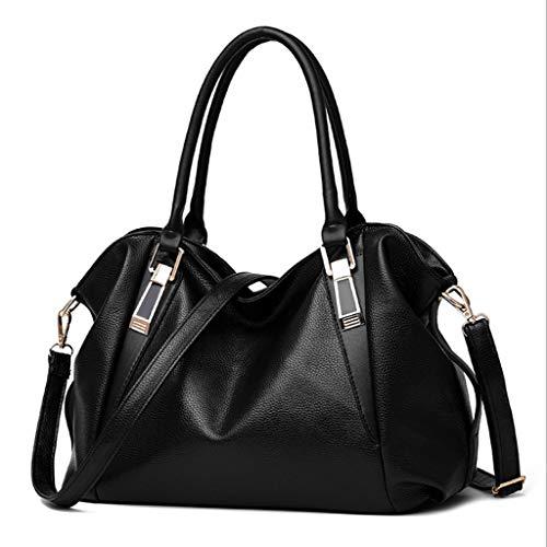 Sac Classique Sac cm Femmes Casual épaule Couleur PU Couleurs Sac Soft Noir Main Mode 23 6 37 16 Messenger à Bag UI1Uzq