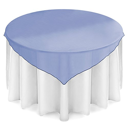 Lanns linens lanns linens organza overlay table topper for Where can i buy table linens