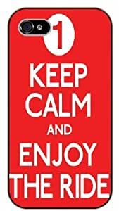 iphone 6 plus 5.5 Keep Calm and enjoy the ride - black plastic case / Keep Calm, Motivation and Inspiration